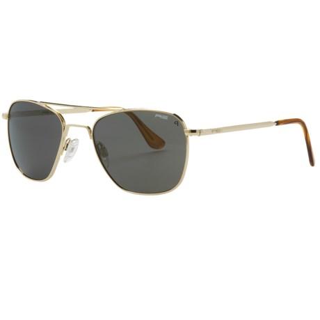 Randolph Aviator 52mm Sunglasses - Polarized, Glass Lenses, 23K Gold-Plated Frame