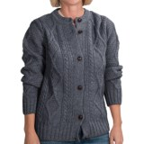 Peregrine by J.G. Glover Cable Cardigan Sweater - Merino Wool (For Women)