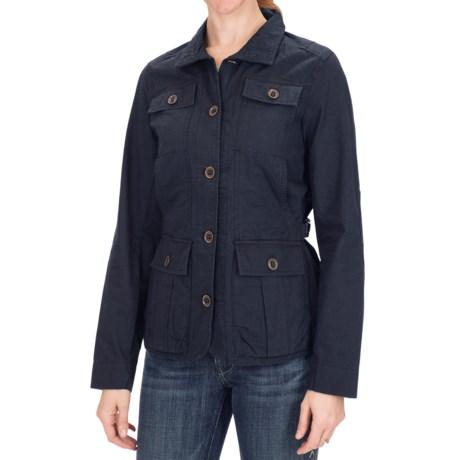 Adjustable Waist Jacket - Cotton (For Women)