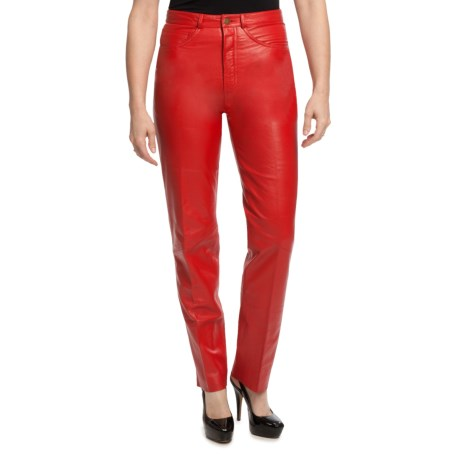 Scully Italian Lamb Leather Pants (For Women)