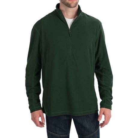 White Sierra Trinity Fleece Shirt - Zip Neck, Long Sleeve (For Men)