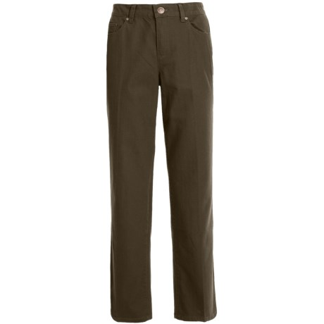 Colored Pants - Stretch Cotton, Straight Leg (For Women)