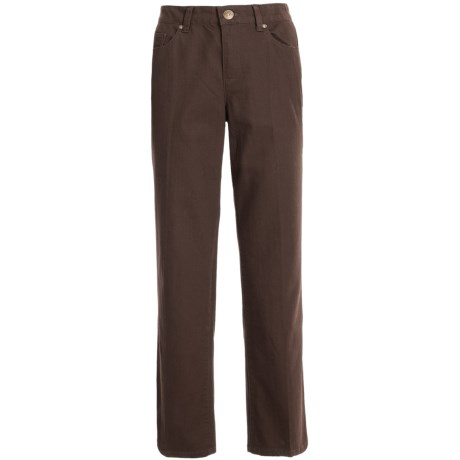Comfort Waist Colored Pants - Stretch Cotton, Straight Leg (For Plus Size Women)