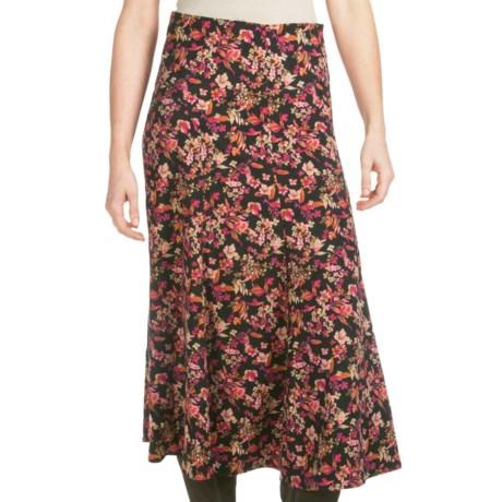 Floral Moleskin Skirt (For Women)
