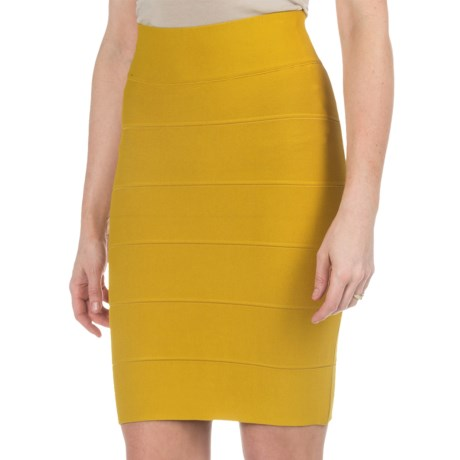 Specially made Solid Stretch-Knit Skirt (For Women)