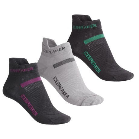 Icebreaker Merino Wool Ultralite Micro Sport Sock Grab Bag - 3-Pack, Below-the-Ankle (For Women)