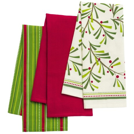 DII Holiday Dish Towels - Set of 3