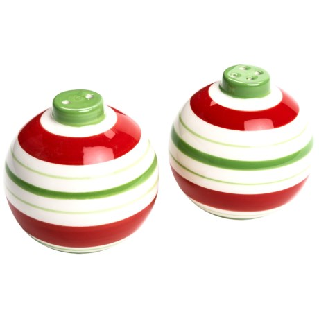 DII Holiday Ornaments Ceramic Salt & Pepper Shakers