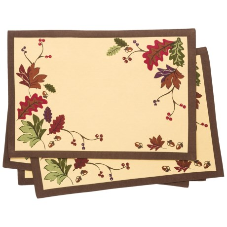 DII Autumn Cloth Placemats - Reversible, Set of 4