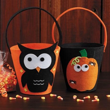 DII Felt Halloween Candy Bags - Set of 4