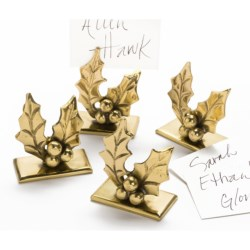 DII Holly Place Card Holders - Set of 4