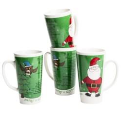 Kane Home Holiday Latte Mugs - Set of 4, Ceramic