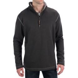 True Grit Sueded Tec Fleece Pullover Sweatshirt - Zip Neck (For Men)