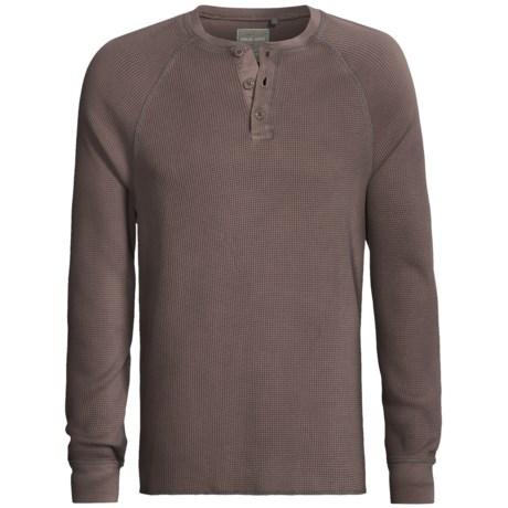 True Grit Vintage Thermal Henley Shirt - Long Sleeve (For Men)