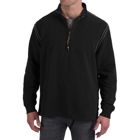 True Grit Cashmere Fleece Sweater - Cotton Blend, Zip Neck (For Men)