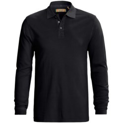 True Grit Three Button Polo Shirt - Jersey Pique, Long Sleeve (For Men)