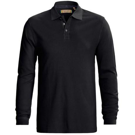 True Grit Three Button Polo Shirt - Jersey Pique, Long Sleeve (For Men)