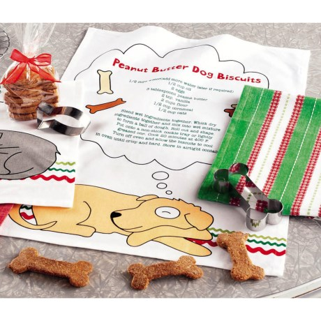 Tag Pet Holiday Dish Towels and Cookie Cutter Set - 3-Piece