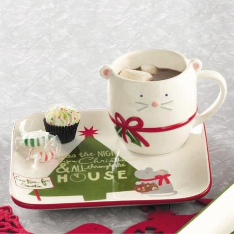 Tag Happy Holidays Cookies For Santa Mug and Plate Set
