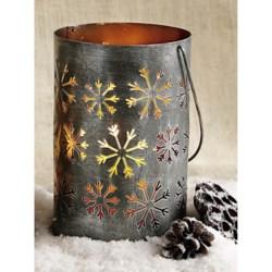 Tag Snowflake Lantern - Metal