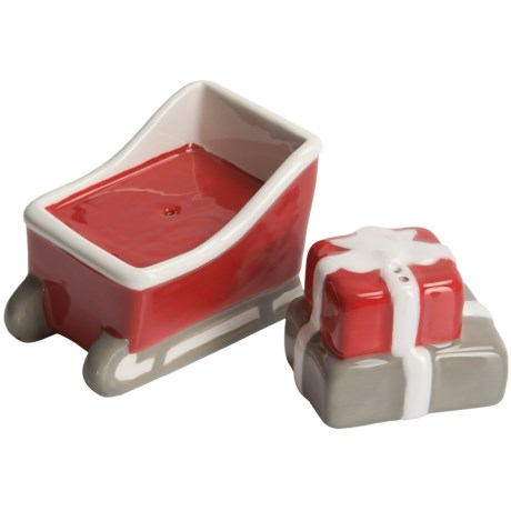 Tag Sled and Packages Mini Salt and Pepper Shakers