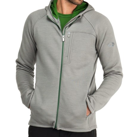 Icebreaker Kodiak Hooded RealFleece 320 Jacket - Merino Wool, Full Zip (For Men)