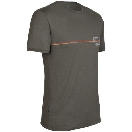 Icebreaker Tech T Lite Road Trip T-Shirt - Merino Wool, Short Sleeve (For Men)