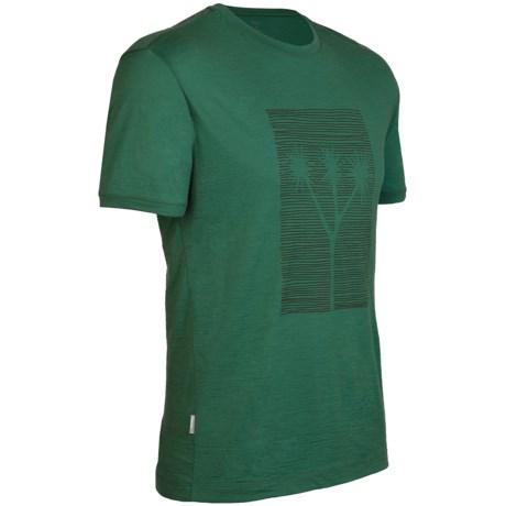 Icebreaker Tech T Lite Cabbage Tree Shirt - Merino Wool, Short Sleeve (For Men)