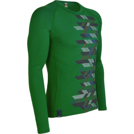 Icebreaker Oasis Print Base Layer Top - Lightweight, Merino Wool, Long Sleeve (For Men)