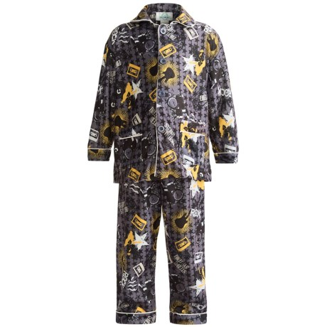 Global Flannel Pajamas - Long Sleeve (For Little Boys)