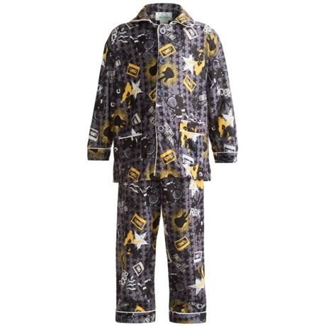 Global Flannel Pajamas - Long Sleeve (For Infant Boys)