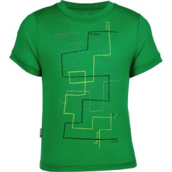 Icebreaker Tech T Lite Ridge T-Shirt - UPF 39+, Merino Wool, Short Sleeve (For Kids)