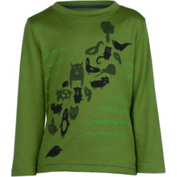 Icebreaker Bodyfit 200 T-Shirt - UPF 50+, Merino Wool, Long Sleeve (For Toddlers)