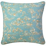 Company C Village Toile Cotton Decor Pillow - Down, 22x22""