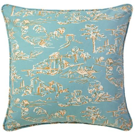 "Company C Village Toile Cotton Decor Pillow - Down, 22x22"""