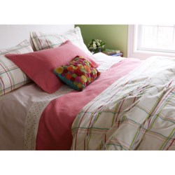 Company C Summer Plaid Duvet - Full-Queen, 200 TC Cotton Percale