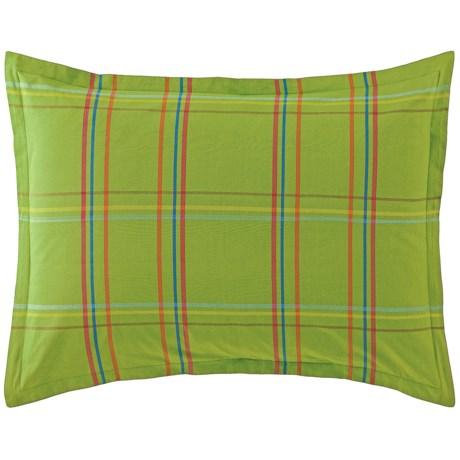 Company C Autumn Plaid Pillow Sham - King, 200 TC Cotton Percale
