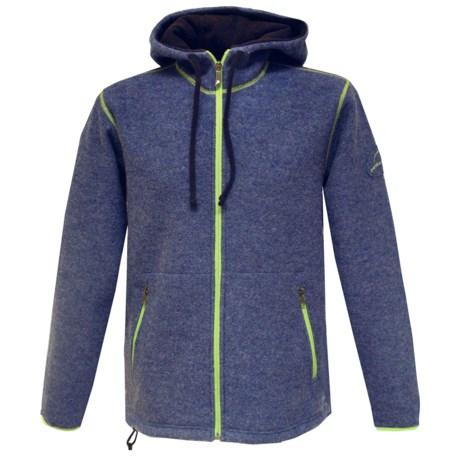 Ivanhoe Hoodie Jacket - Boiled Wool, Full Zip (For Men)