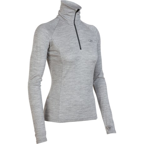 Icebreaker Tech Base Layer Top - Merino Wool, Zip Neck, Long Sleeve (For Women)