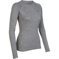 Icebreaker Tech Crew Base Layer Top - Merino Wool, Long Sleeve (For Women)