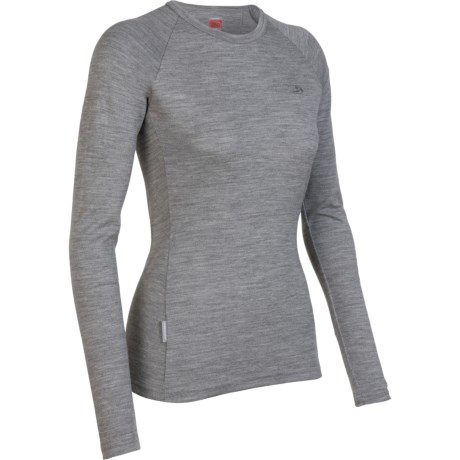 Icebreaker Tech Crew Base Layer Top - Merino Wool, Long Sleeve (For Women)