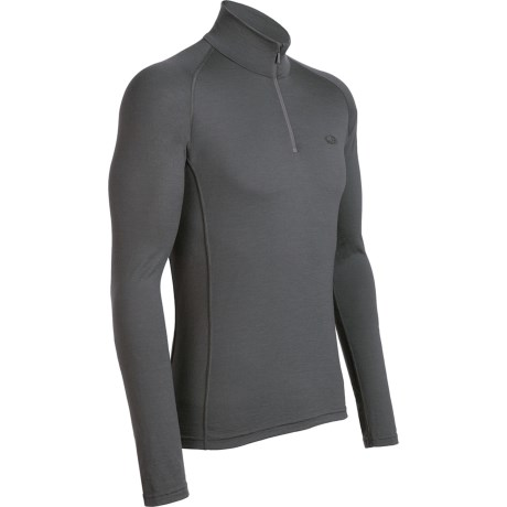 Icebreaker Mondo Zip Neck Base Layer Top - Merino Wool, Lightweight, Long Sleeve (For Men)