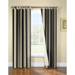 "Thermalogic Weathermate Broad Stripe Curtains - 80x72"", Tab-Top, Insulated, Lined"