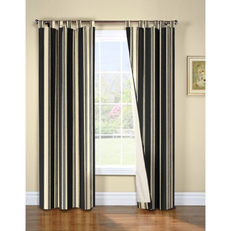 """Thermalogic Weathermate Broad Stripe Curtains - 80x72"""", Tab-Top, Insulated, Lined"""