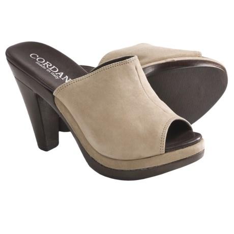 Cordani Hartwell Peep-Toe Slides (For Women)