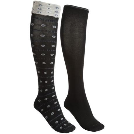 Goodhew Merino Wool Blend Socks - 2-Pack, Knee High (For Women)
