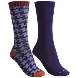 Goodhew Houndstooth and Skinny Minnie Socks - 2-Pack, Merino Wool (For Women)