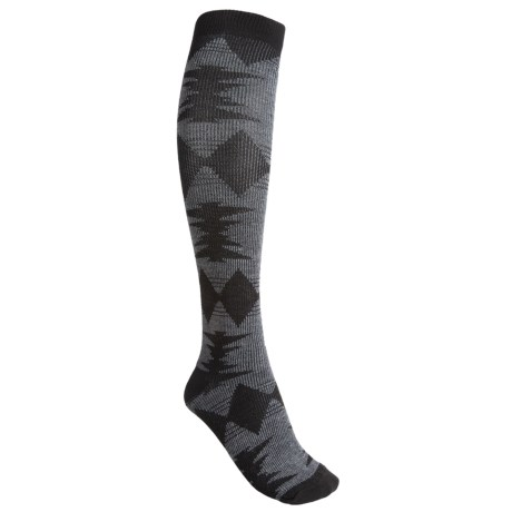 Goodhew Blanket Wool Blend Knee-High Socks - Over-the-Calf (For Women)