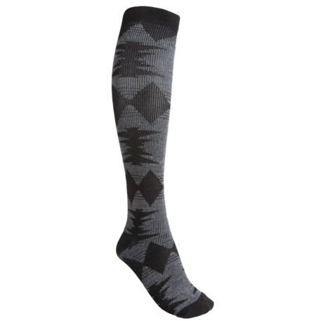 Goodhew Blanket Wool Blend Knee-High Socks - Over-the-Calf (For Women)