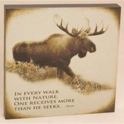 "Big Sky Carvers Moose ""Every Walk"" Wall Art - 12x12"""